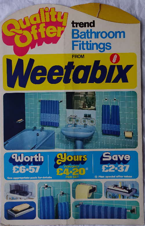 1970s Weetabix Bathroom Fitting Shop Poster