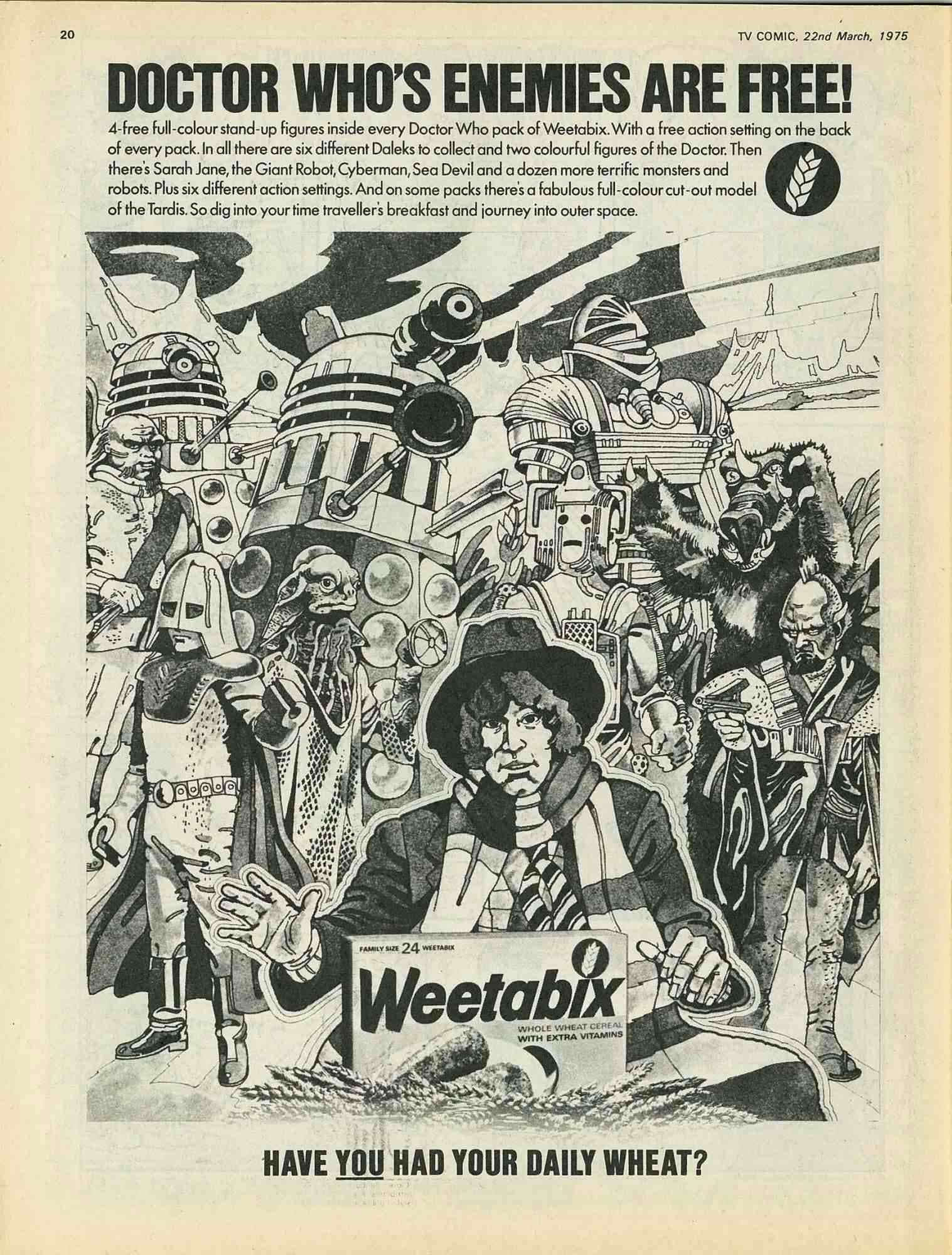 1975 Weetabix Dr Who & His Enemies