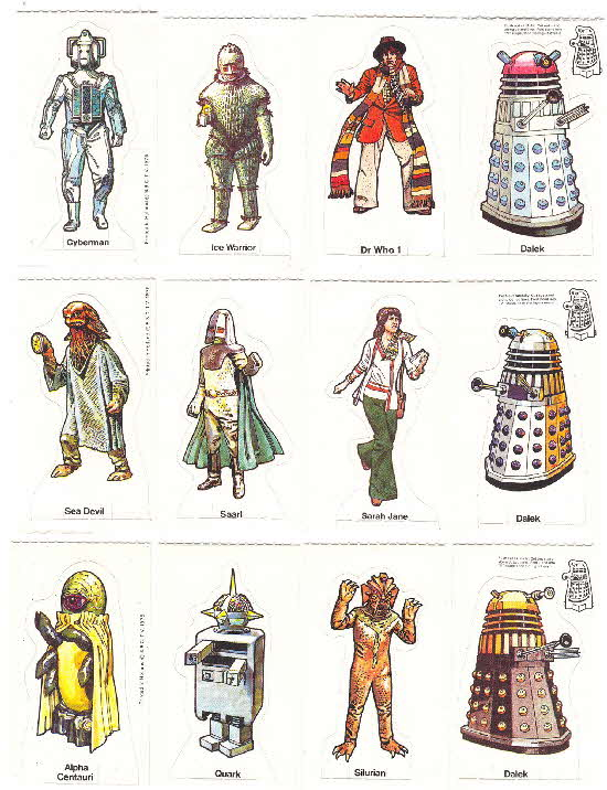 1975 Weetabix Dr Who & his Enemies 1