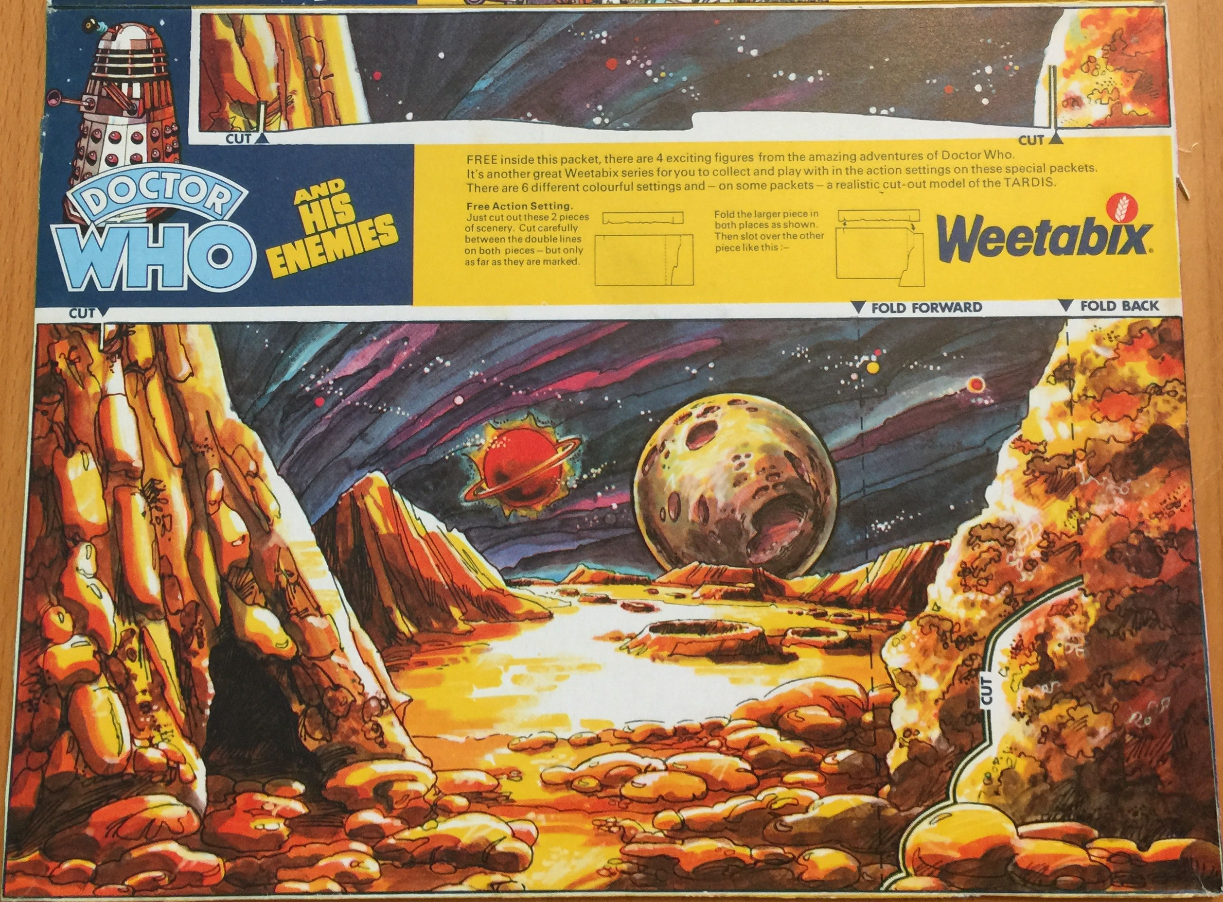 1975 Weetabix Dr Who & Enemies Lunarscape Pack