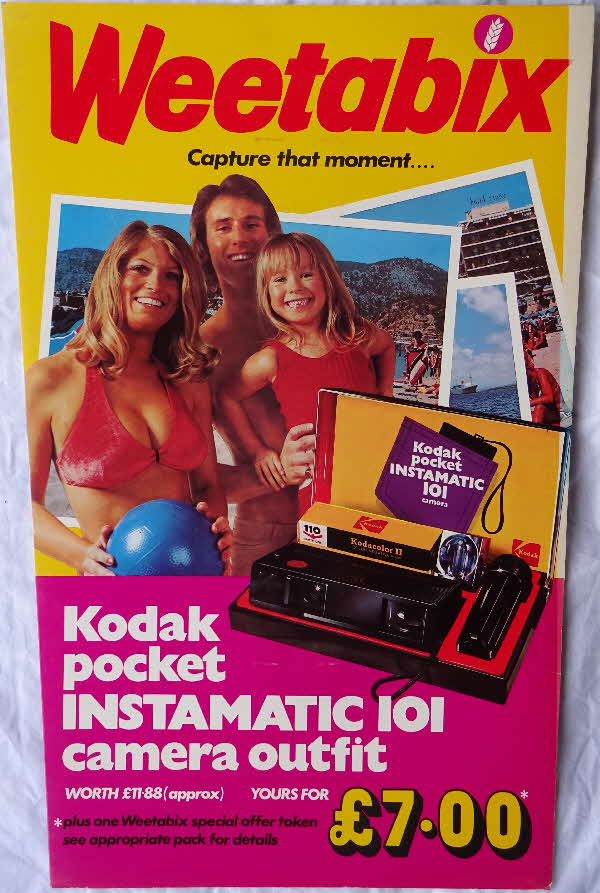 1978 Wetabix Kodak Instamatic 101 Shop Display