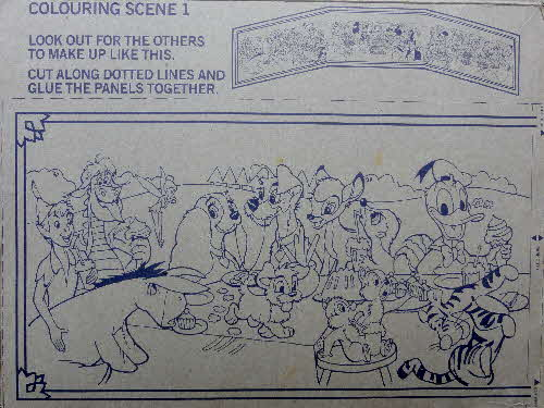 1978 Weetabix Mickey Mouse Playmates Scenes inside