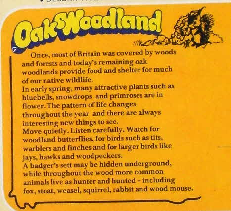 1977 Weetabix Model Naturescape Woodland compared back1