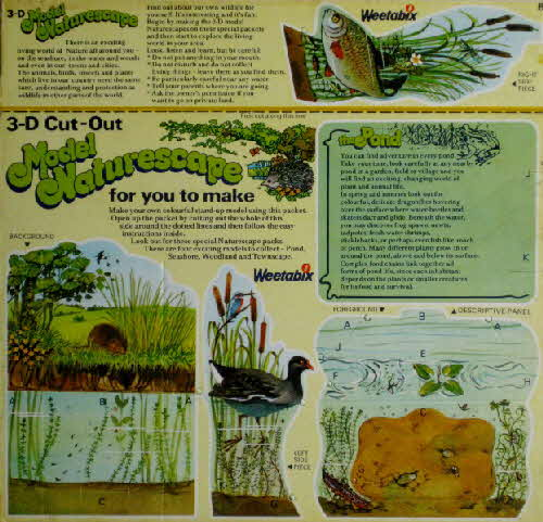 1977 Weetabix Model Naturescape the Pond