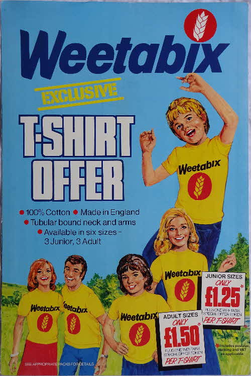 1978 Weetabix Super T Shirt Shop Poster