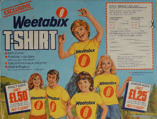 1978 Weetabix T Shirt offer