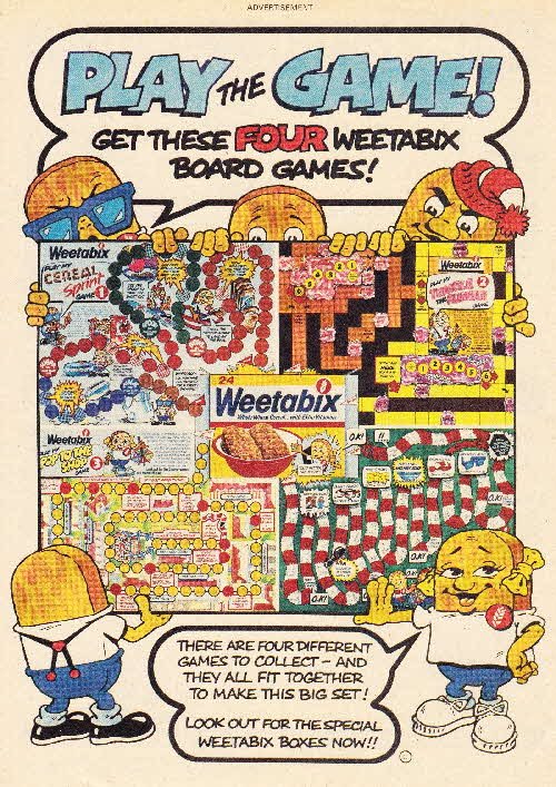 1983 Weetabix Board games1
