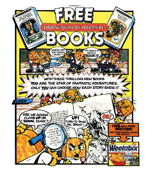 1984 Weetabix Choose your Adventure Books