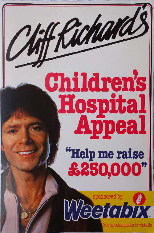 1982 Weetabix Cliff Richard Childrens Hospital Appeal Show Posters (1)