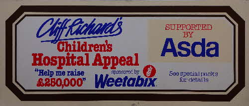 1982 Weetabix Cliff Richard Childrens Hospital Appeal Show Posters (2)