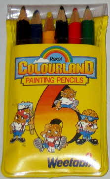 1984 Weetabix Colouring Painting Pencils & Poster (1)