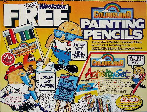1984 Weetabix Colouring kit & pencils (3)