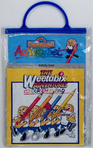 1984 Weetabix Colouring kit & pencils set (3)