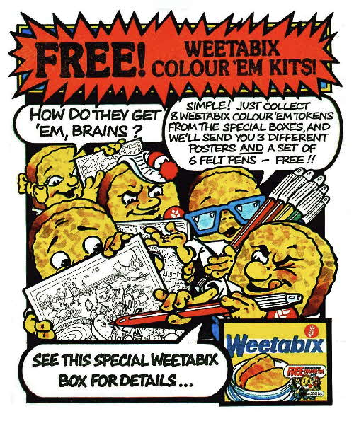 1983 Weetabix Colour 'em Kits colour