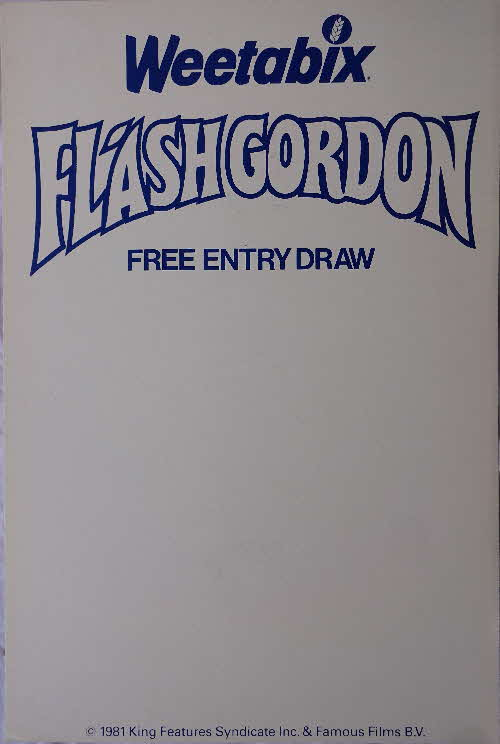 1981 Weetabix Flash Gordon Shop Poster Prize Draw