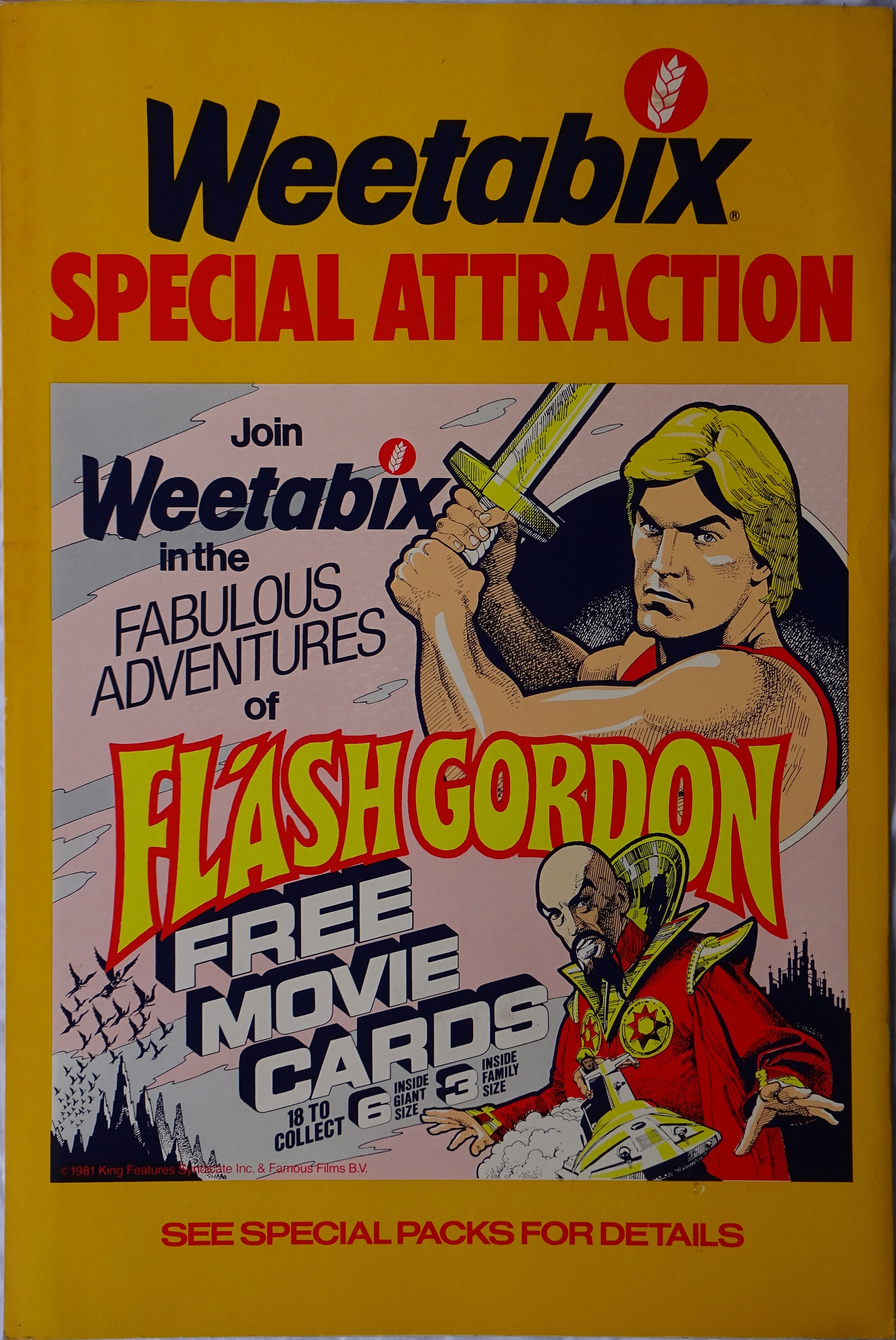 1981 Weetabix Flash Gordon Shop Poster
