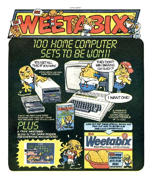 1984 Weetabix Home Computer Competition & Weetabix vs Titchies