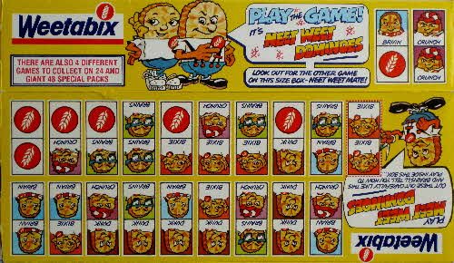 1983 Weetabix Play the Game Dominoes