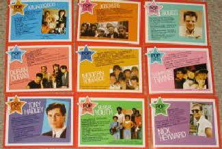 1983 Weetabix Pop Stickers Pop star packet profiles (betr)
