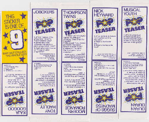1983 Weetabix Pop Stickers inside