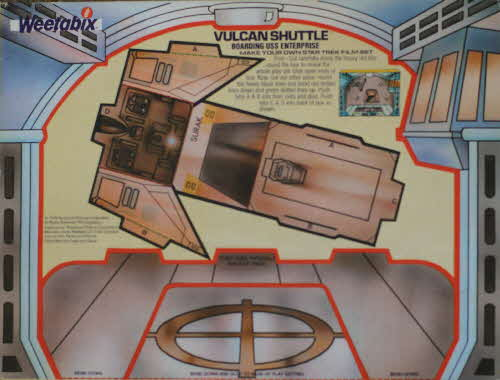 1980 Weetabix Star Trek  Action Cards Vulcan Shuttle
