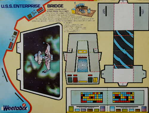 1980 Weetabix Star Trek Action Cards USS Enterprise Bridge (2)