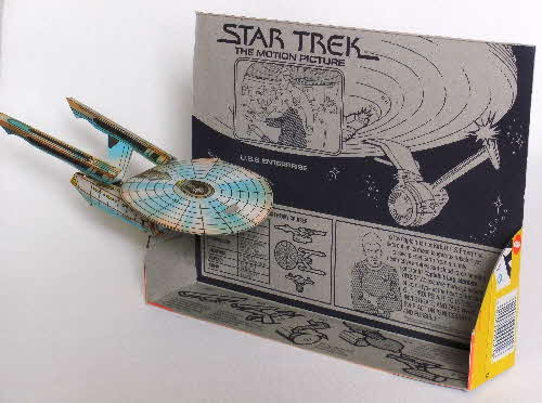 1980 Weetabix Star Trek Action Cards USS Enterprise made (2)