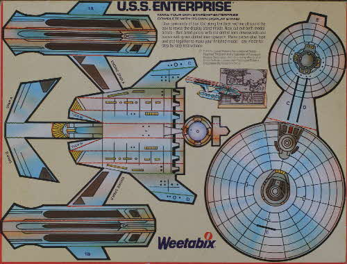 1980 Weetabix Star Trek Action Cards USS Enterprise1