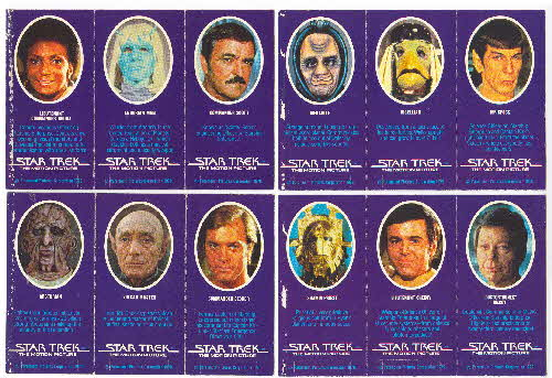 1980 Weetabix Star Trek Motion Picture 1 back