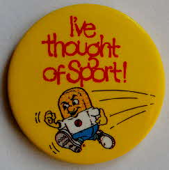 1985 Weetabix Get into Sports Pack Badge