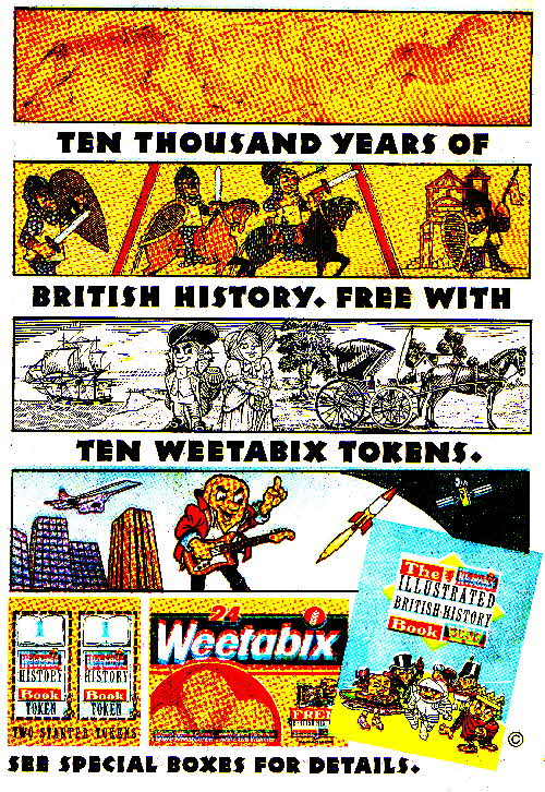 1989 Weetabix Illustrated British History Book