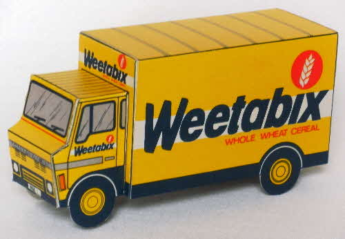 1980s Weetabix Lorry cut out WBX 1 made