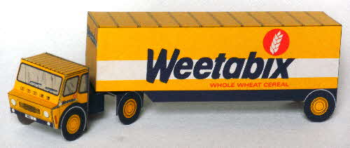 1980s Weetabix Lorry cut out WBX 2 & send away model Weetabix lorry done