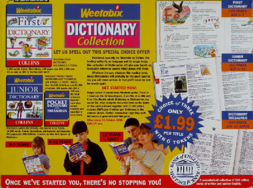 1997 Weetabix Dictionary Collection