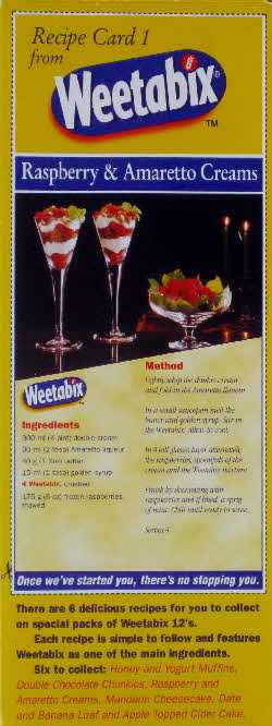 1997 Weetabix Recipe Card 1