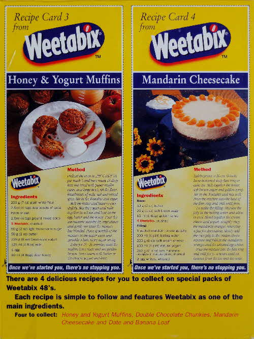 1997 Weetabix Recipe Card 3&4