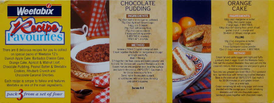 1995 Weetabix Recipe Favourites Pack  (1)