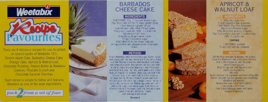 1995 Weetabix Recipe Favourites Pack  (2)