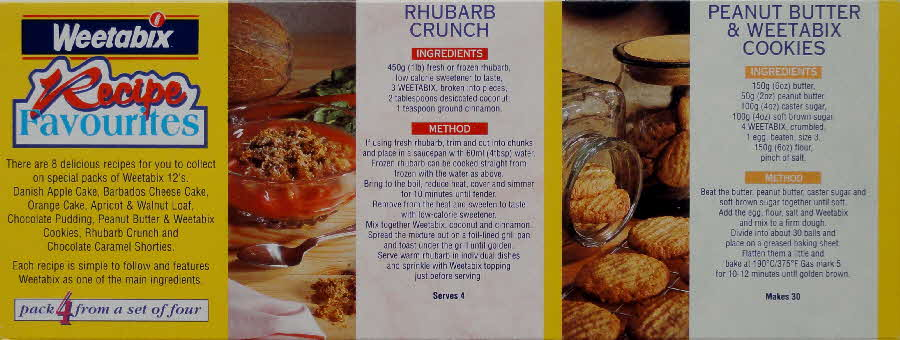 1995 Weetabix Recipe Favourites Pack  (3)