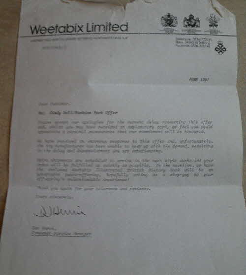 1991 Weetabix Sindy apology letter (1)