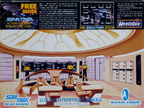 1995 Weetabix Star Trek Action Stickers USS Enterprise Bridge