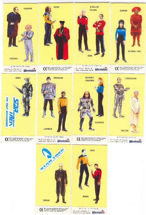 1995 Weetabix Star Trek Stickers