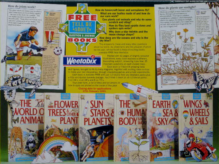 1992 Weetabix Tell Me About Books
