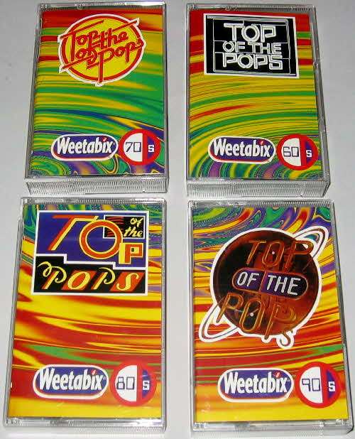 1996 weetabix Top of the Pops Tapes set