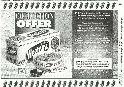1999 Weetabix Collection (betr)