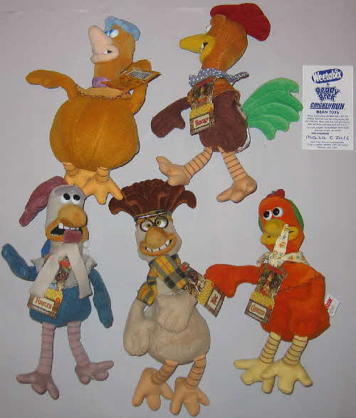 2000 weetabix Chicken Run Soft Toys