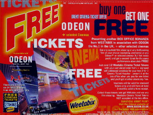 2001 Weetabix Free Cinema tickets