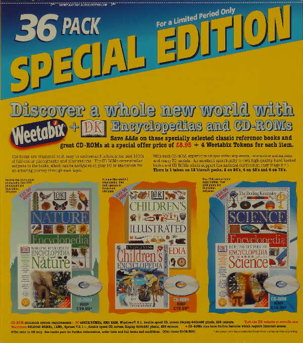 2000 Weetabix DK Encyclopedia Discs & Special 36 pack edition