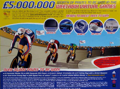 2004 Weetabix Olympic cycling