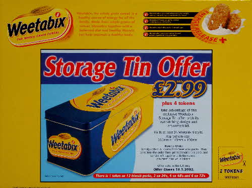 2001 Weetabix Storage Tin